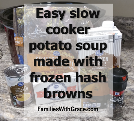 Easy slow cooker potato soup