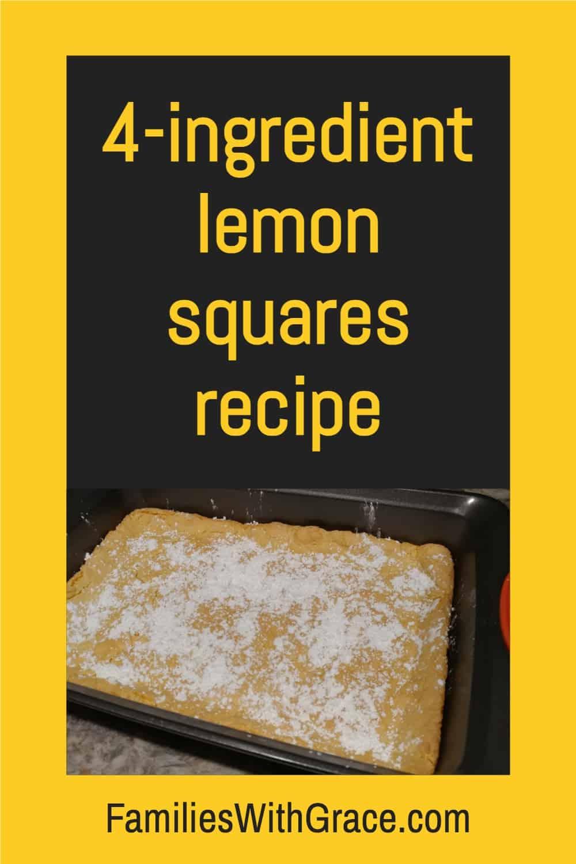 4-ingredient lemon squares recipe