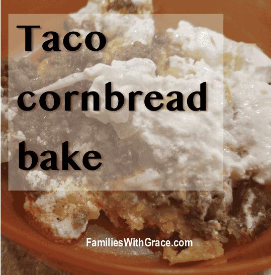 Taco cornbread bake