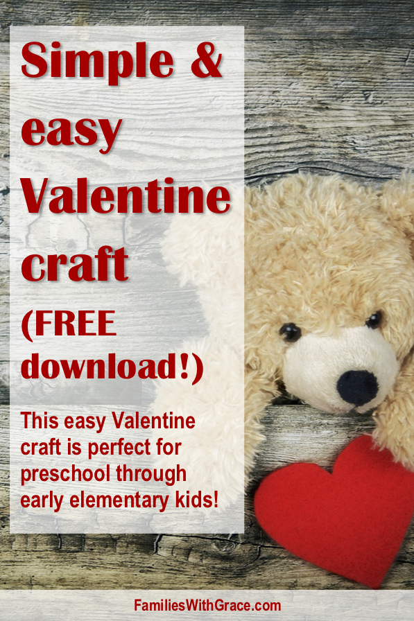 Simple and easy Valentine craft (FREE download!)