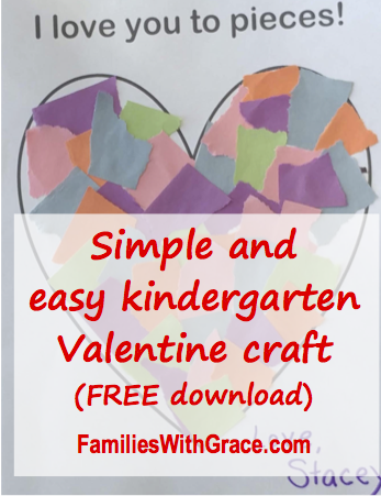 This kindergarten Valentine craft is by far the easiest, cheapest and most successful one I've ever done! I love having a free printable to make it even easier! #kindergarten #Valentine #KindergartenValentine #ValentineCraft