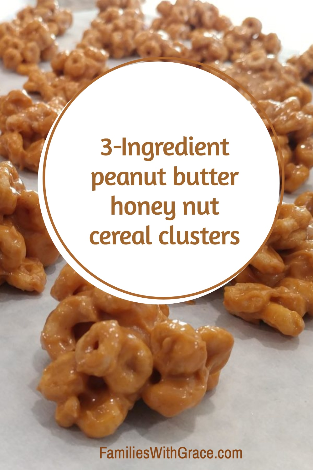 Peanut butter honey nut cereal clusters