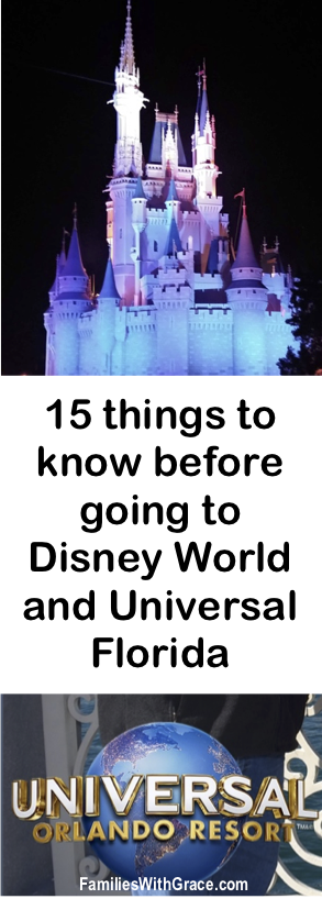 15 things to know before going to Disney World and Universal Florida