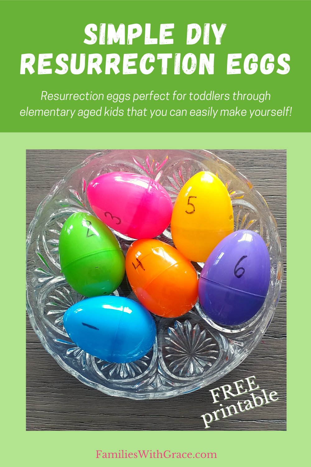 Simple DIY resurrection eggs (FREE printable!)
