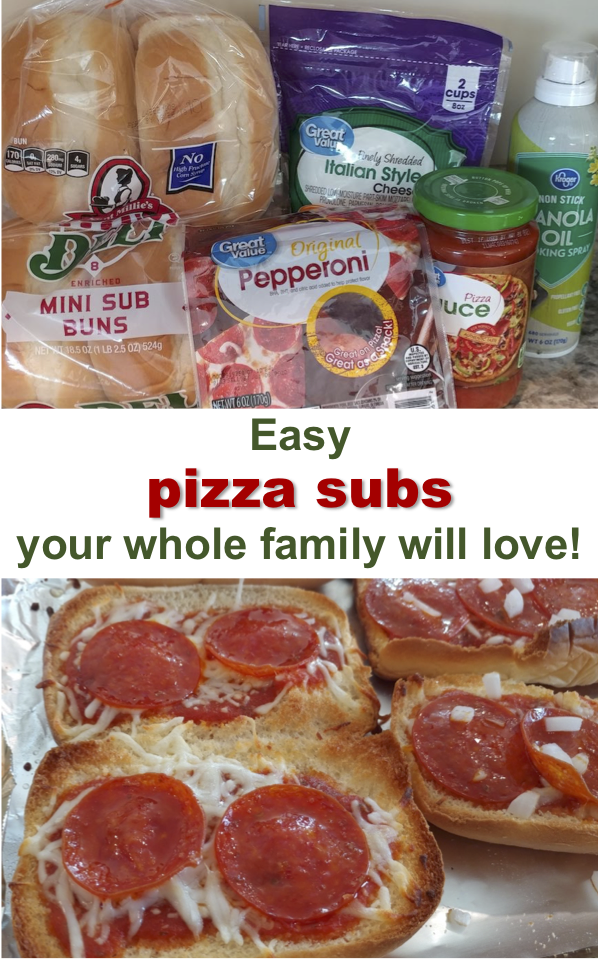 Easy pizza subs your whole family will love!