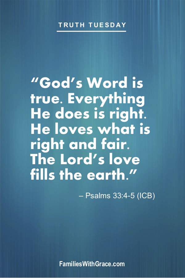 Truth Tuesday: Bible verses for kids