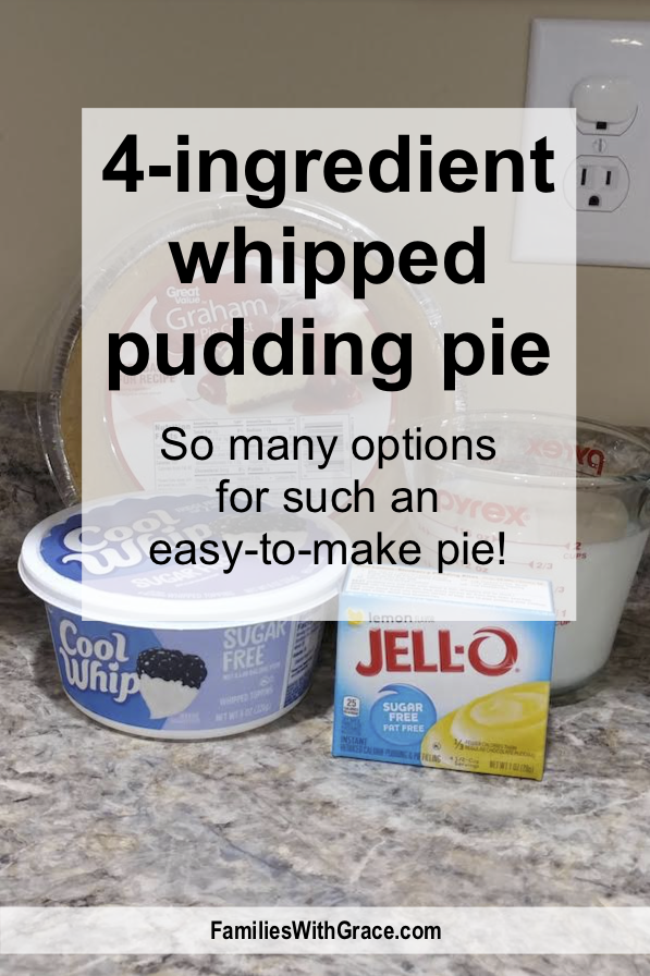 4-ingredient whipped pudding pie