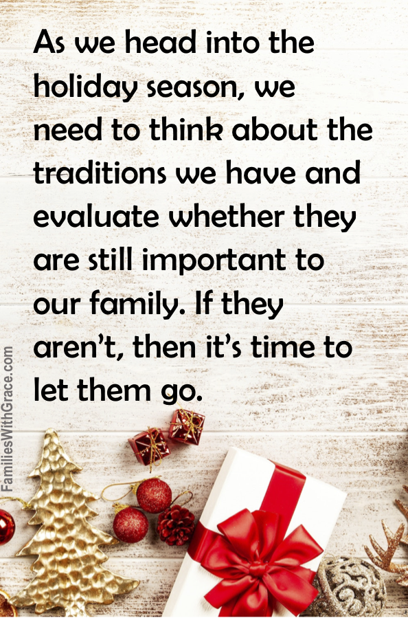 How to decide which holiday traditions to keep