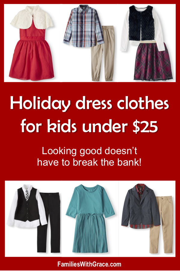 Holiday dress clothes for kids under $25