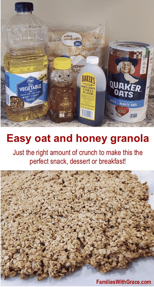 Easy oat and honey granola