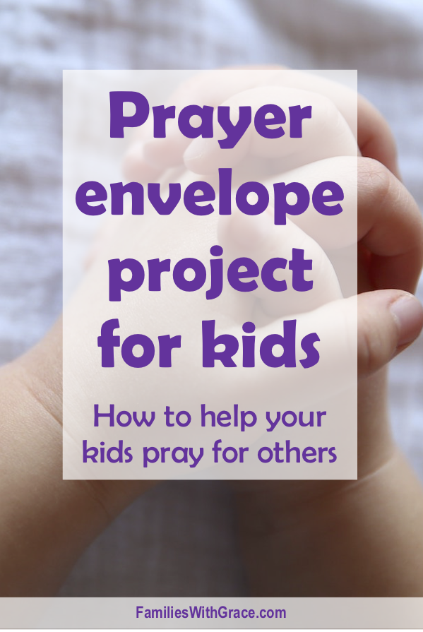 Prayer envelope project for kids