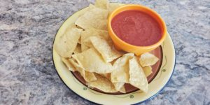 An easy, flavorful mild salsa recipe that can be made with ingredients from your pantry. It's a perfect addition to taco or nacho nights! #salsa #salsarecipe #easyrecipe