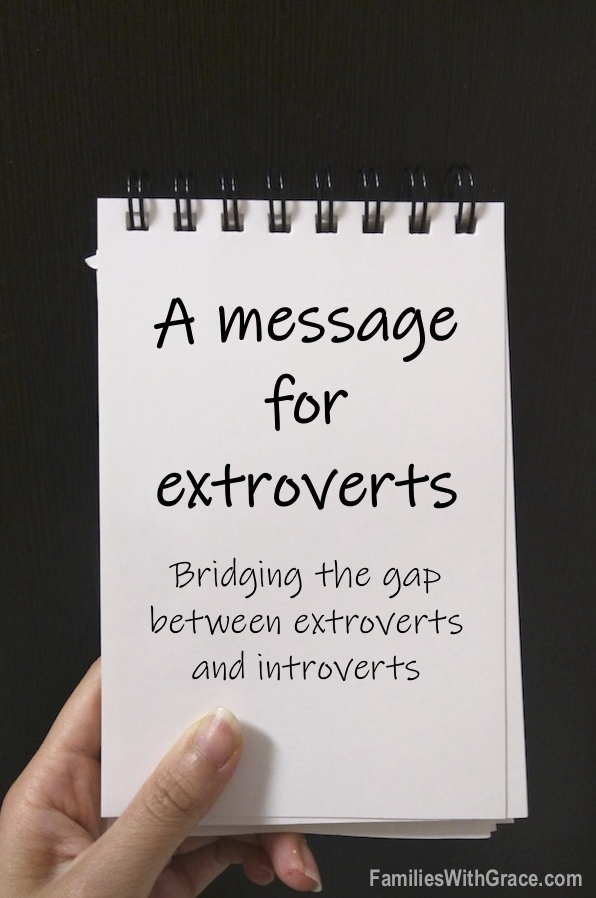 A message for extroverts