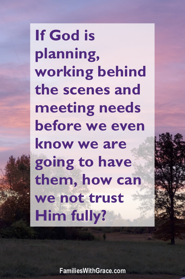 Seeing God\'s plan in the little and big stuff