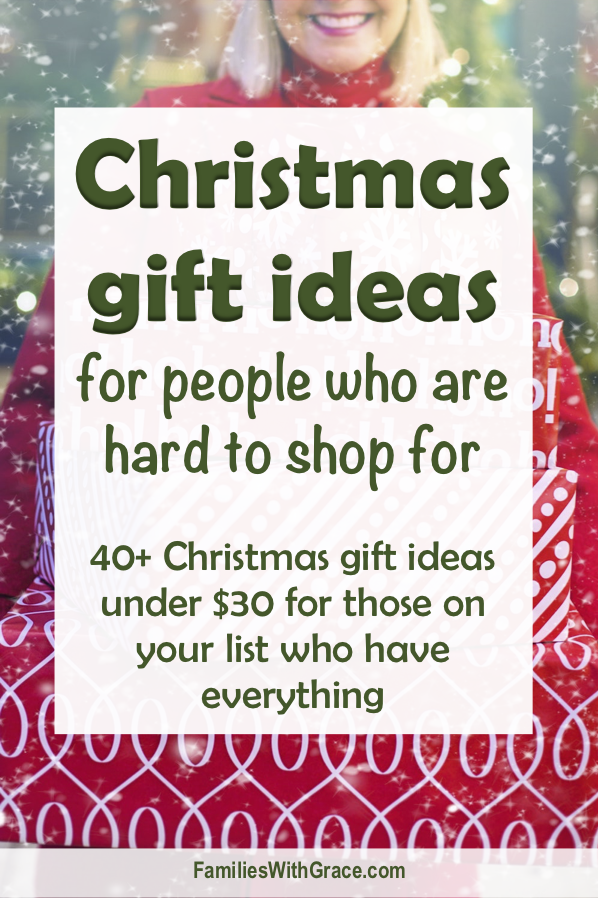 Christmas gift ideas for people who are hard to shop for