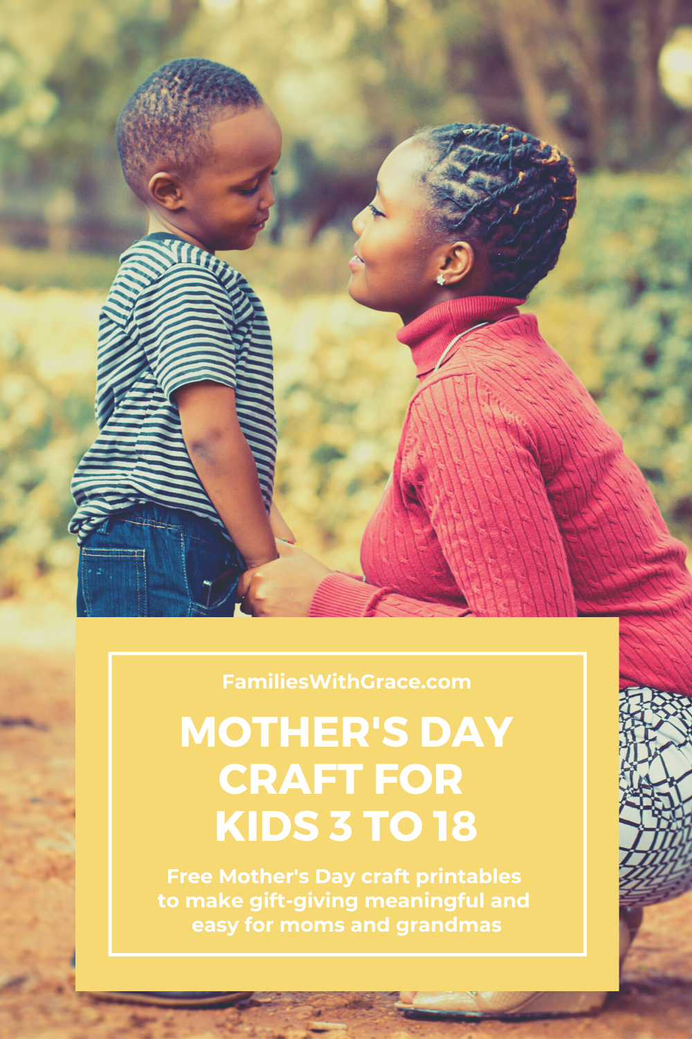 Mother\'s Day craft for kids 3 to 18