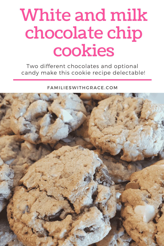 White and milk chocolate chip cookie recipe