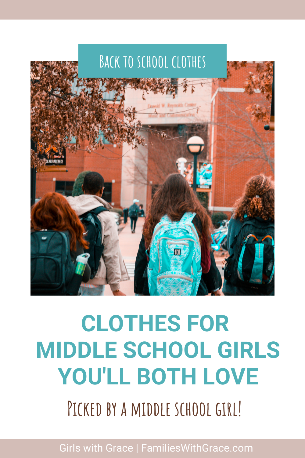 Back to school clothes for middle schoolers