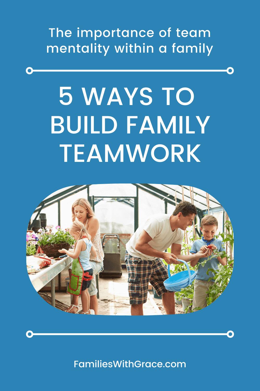 5 Ways to build family teamwork